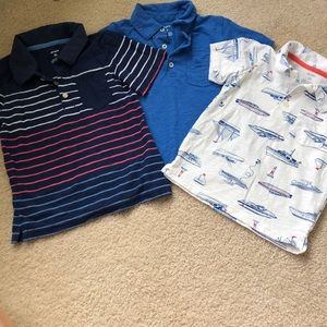 3 Boys Polo Shirts from Carters - 3T